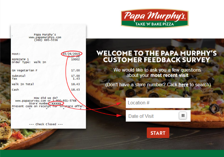Papa Murphy s Guest Satisfaction Survey