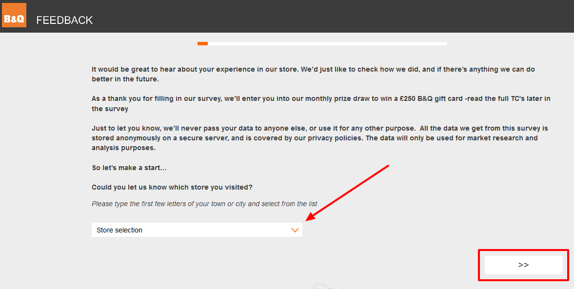 Participate in B&Q Survey and Get A Chance to Win £250 every month